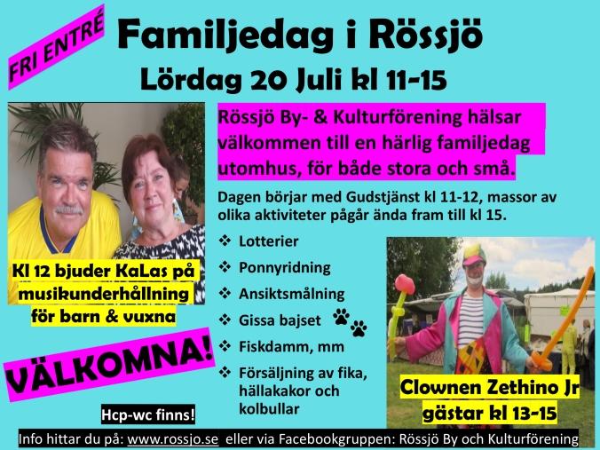 Familjedag i Rössjö 2019